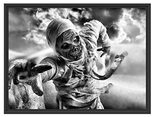 Picati Mumie grijpt aan in de schaduwvoegen fotolijst   kunstdruk op hoogwaardig galeriekarton   hoogwaardige canvasfoto alternatief 80x60