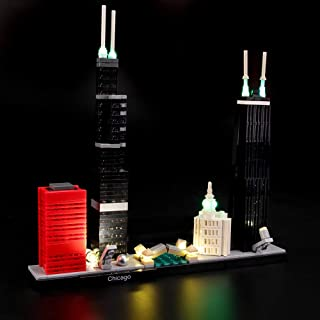 LIGHTAILING Light Set for (Architecture Chicago) Building Blocks Model - Led Light kit Compatible with Lego 21033(NOT Included The Model)