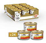 Purina Gourmet Gold Umido Gatto Mousse con Manzo, 24 Lattine da...