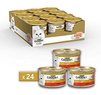 Gourmet Purina Gold Nourriture Humide, Mousse pour Chat, au bœuf–24boîtes de 85g chacune (Pack de 24x 85g)