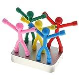 Juego de 5 divertidos miniimanes de nevera de goma  de Q-Man con forma de personas, ideales para niños, adultos, cocina y oficina