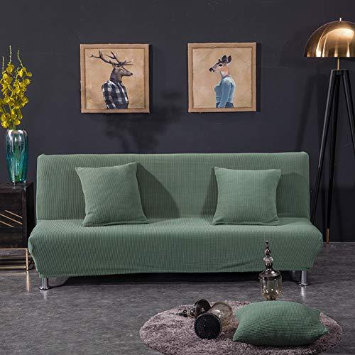 Monba senza braccioli copridivano a maglia divano Slipcover set mobili Protector jacquard stretch Couch della sedia, Jacquard, Army Green, L:160-190CM