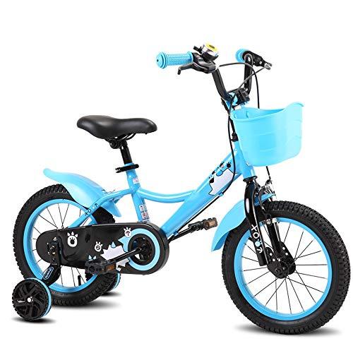 YUMEIGE Kinderfahrräder Kinderfahrräder Rahmen aus Kohlenstoffstahl mit Stützrad Kinderfahrrad 14/16/18 Zoll Jungen und Mädchen Radfahren Geeignet für Kinder von 2-12 Jahren