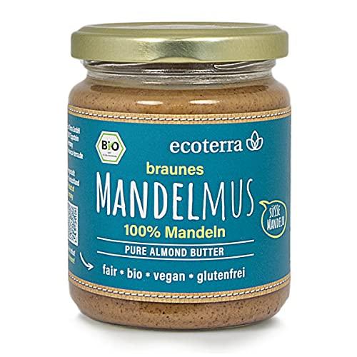 ecoterra Bio Mandelmus braun | 100% Mandeln | vegan | glutenfrei | Fairtrade | 250 g