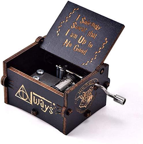 Para Harry Potter la caja de música hecha a mano de madera...