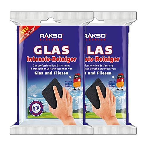 RAKSO Glas-Intensivreiniger Edelstahlwolle Kratzfrei Scheibenreiniger Glasreiniger & Fliesenreiniger für Wand/Boden-Reiniger 2 St