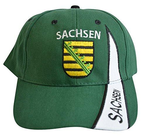 Flaggenfritze Kappe Motiv Deutschland Sachsen Fahne, fan - Cap mit sächsischer Fahne