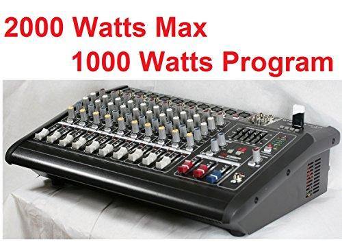 GTD-Audio 10 Channal 2000Watt Professional Powered Mixer Amplifier (500w RMS ) BM-228