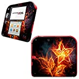 SKINOWN Vinyl Cover Decals Skin Sticker for Nintendo 2DS Console - Beauty Flame Flower