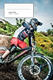 Mountain Bike Racer College Ruled Composition Notebook