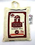 India Gate Aged Basmati Rice Pure & Tasty 10 Lbs in Canvas Bag رز بسماتي بوابة...