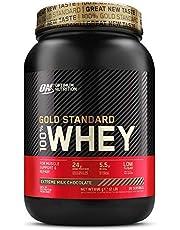 Optimum Nutrition ON Gold Standard 100% Whey Proteína en Polvo Suplementos Deportivos, Glutamina y Aminoacidos, BCAA, Extremo Chocolate, Leche, 28 Porciones, 900 g, Embalaje Puede Variar
