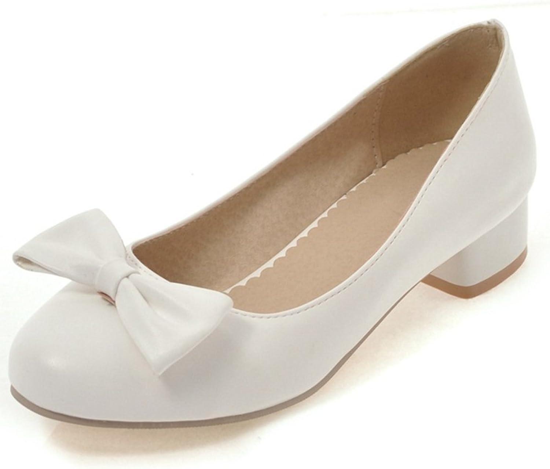 SaraIris Women's Block Mid Heel Butterfly shoes Office Pumps