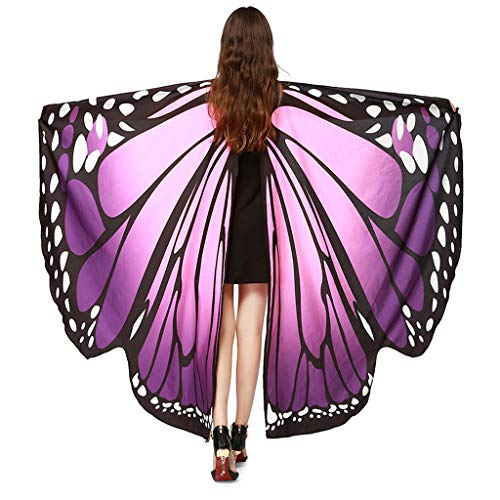Find Discount Butterfly Wings for Women, VEZARON Soft Fabric Cover up Beachwear Shawl Fairy Ladies N...
