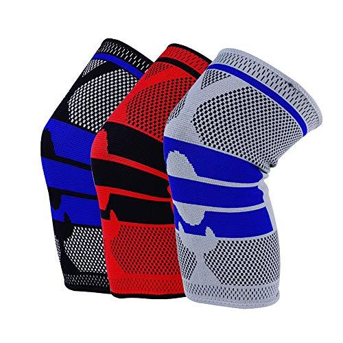 Knieschoner Eislaufen Kniepolster Erwachsene Atmungsaktive Einstellbare Aramidfaser Motocross Mountainbike Radfahren Skateboard (Farbe : Schwarz, Größe : M)