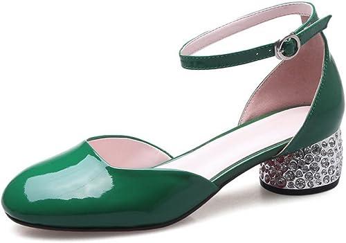 Ladola Sandales Compensées Femme - Vert - vert, 36.5 EU