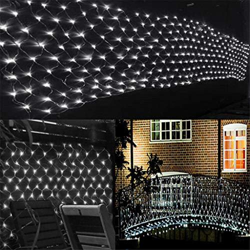 Lichternetz Dekoration Lichterkette, Weihnachtsinnen Vorhang Lampe, wasserdichte Außen Beleuchtung Mit 8 Mode Controller Und Tandem Arbeits White 10mx8m