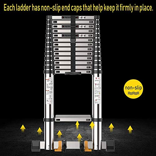 LADDERS Ladder Telescopic Ladders,Heavy Duty Multi Purpose Telescoping Ladders for Engineering, Portable Atelescopic Extension Ladder, 330Lbs Capacity,4.7M/15.4Ft