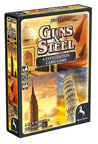 Pegasus Spiele 18286E Guns und Steel A Story of Civilization - Juego de Mesa (edición en inglés)