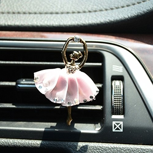 Read About GH8 Ballet Girl Car Bling Decoration Bling Car Interior Accessories Air Vent Sparkle Rhin...