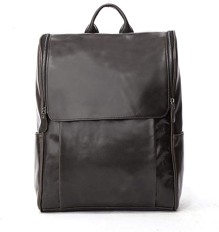 Xuanbao Lässiger Daypack Vintage Herren Rucksack aus Echtem Leder Daypack Daypack Daypack Wasserdichte Reißverschluss Laptop Taschen Outdoor-Reisen Business Schwarz Duffle Bag lässiger Daypack B07G95G3ZV   Ausgezeichnetes Preis  a2faf8