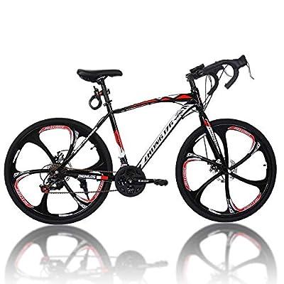 2021 New Bikes 21 Speed Road Bike 700C Wheels Road Bicycle Dual Disc Brake Bicycles for Men and Women Black.