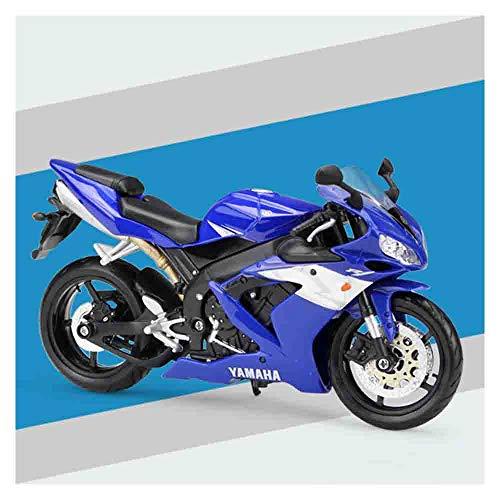 LJHLJH Yamaha YZR-R1 Presofundido 1/12 del Modelo de Escala aleación colección de Coches de la Motocicleta de Juguete Adecuado para los niños niñas y Adultos,Azul
