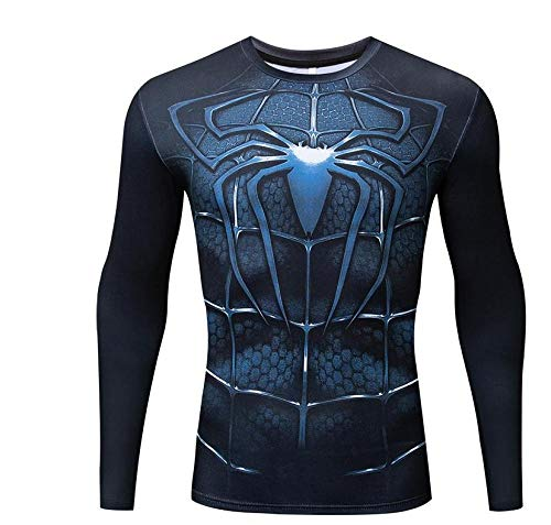 Spiderman Cosplay Spiderman badpak met lange mouwen voor de zomer XXL Blauw