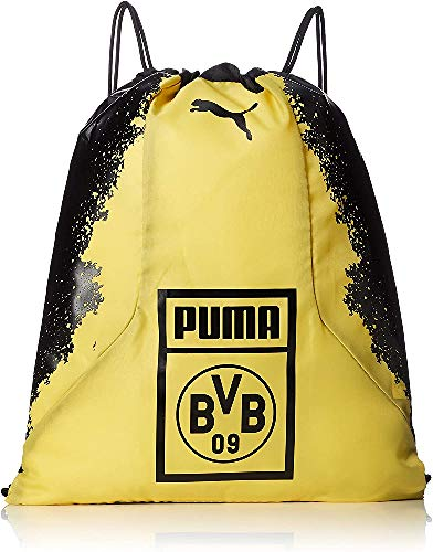 PUMA BVB Fan Gym Sack Turnbeutel, Black-Cyber Yellow, UA