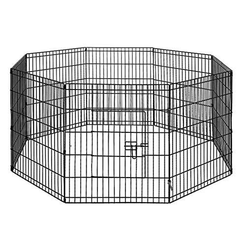 30' 8 Panel Pet Playpen Portable Exercise Cage Fence Dog Puppy Rabbit Enclosure