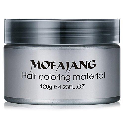 Bingirl Fashion Hair Styling Pomade Silver Ash Grandma Grey Hair Wax Men Temporary Disposable Hair Dye Coloring Mud Cream