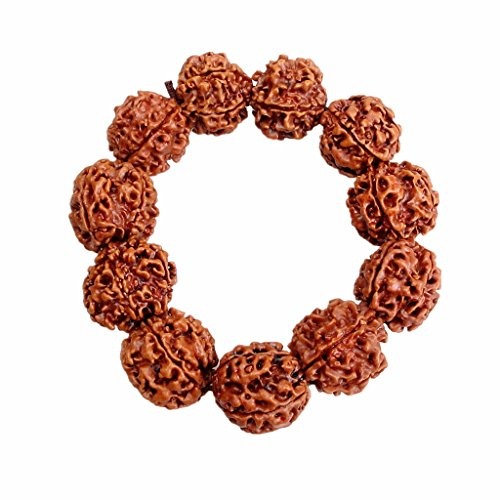 sharprepublic Rudraksha Beads Bracelet Wristband Wristlet Prayer Yoga Bracelet Jewelry