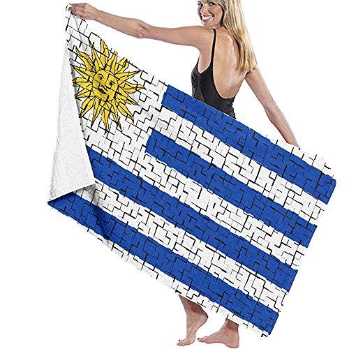 Toallas De Baño Uruguay Flag Puzzle Personalizado Unisex Ad