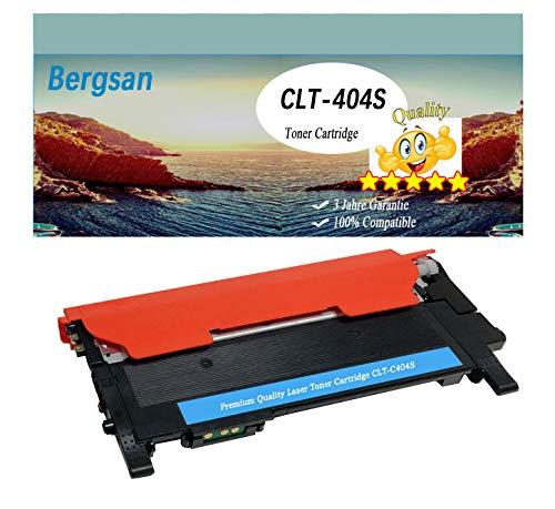 Bergsan Ciano Cartucce Toner compatibile con Samsung CLT-404S CLT-P404C P404C Sostituzione con Xpress C430 C430W C480 C480W C480FN C480FW SL-C430 SL-C430W SL-C480 SL-C480W SL-C480FN SL-C480FW