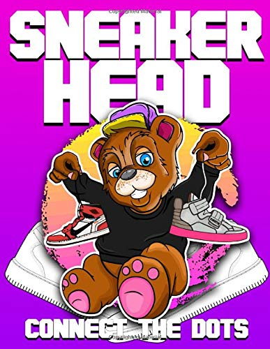 Sneaker Head Connect The Dots: Fantastic Connect Dots Coloring Activity Books For Adult . With Crayons