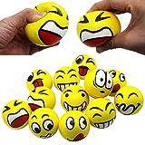 MIMIEYES Stress de Décompression Visage Sourire Boules de Jouets en Mousse pour Enfants Billes Balle(12PCS)