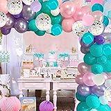 Unicorn Balloons Garland Kit, 100 Pcs Pink...