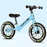 Productos infantiles Bicicleta De Entrenamiento para NiñOs Balance Sin Pedales, Cuerpo De Acero De Alto Carbono   NeumáTicos Antideslizantes De 14 Pulgadas   Altura del Asiento Ajustable