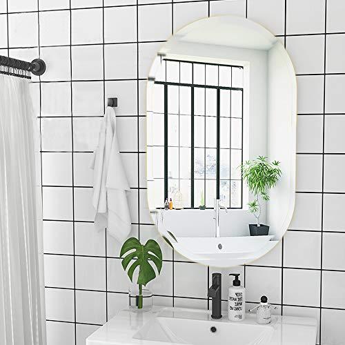 U HOME Oval Bathroom Wall Mirror 36 x 24 inch, 6 MM -