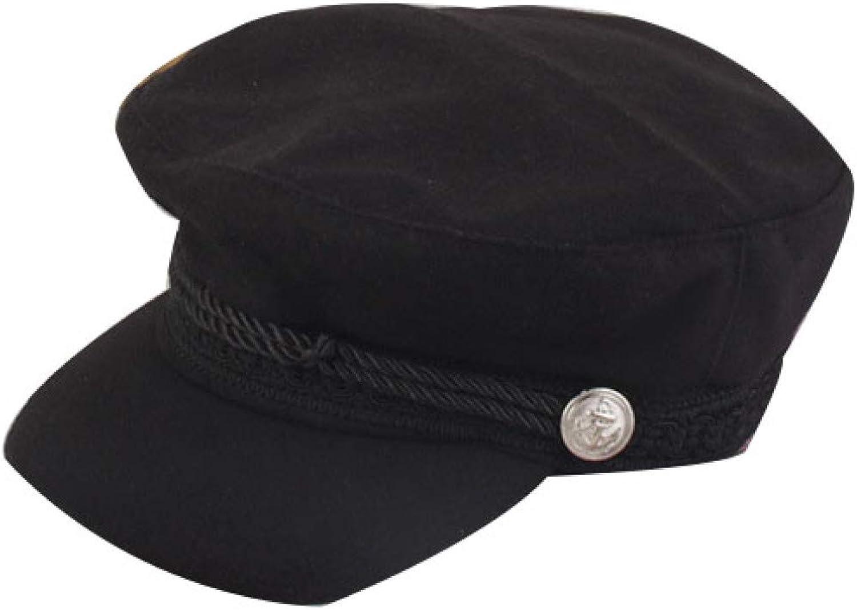 Women Men Sailors Fisherman Cap Autumn Winter Flat Millitary Cap Elegant Gatsby Driving Hat Adjustable Fiddler Hat for Teen