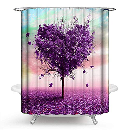 PHNAM Floral Watercolor Flower Shower Curtain Sets with Hooks Waterproof Colorful Art Print Polyester Fabric 72x72inches Long Spa Bathroom Decoration Bath Curtains for Shower, Bathtub