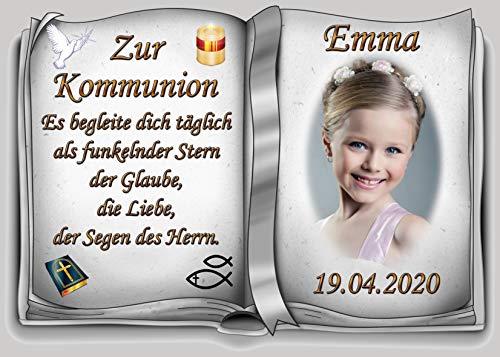 Tortenaufleger Fototorte Tortenbild zur Kommunion Buchform DIN A4 K34