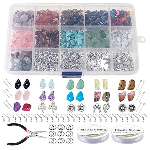 Multifunción 933pcs Chips irregulares Piedras de piedra Piedra de piedras preciosas Kit Crystal Chip Beads para collar Pulsera Pendientes Joyería Prepare para manualidades de bricolaje joyería