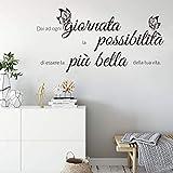 decalmile Adesivo Murali Frasi Scritte dai ad Ogni Giornata la possibilita Farfalle Adesiv...