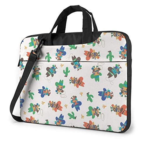 Cowboy Owls Laptop schoudertas met handvat dragende Messenger handtas