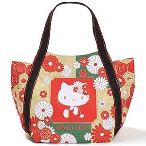 【B8-2】 Hello Kitty ハローキティ 限定 和柄 マザーズバッグ トートバッグ マザーズトートバッグ ■KITTY-WG■ (4069葉文様)