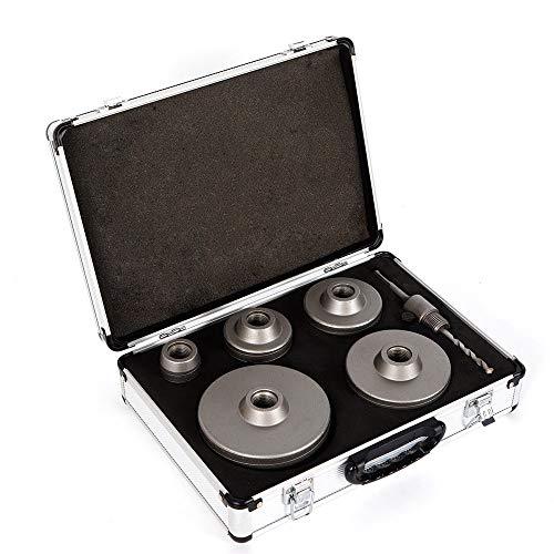oubay Lew 6x hormigón y coronas broca Bits Set Diámetro 40/68/80/100/120mm con adaptador SDS Plus