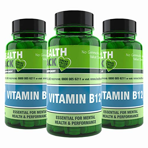 Vitamin B12 | 180 Tablets - 500mg | Supports Normal Function of Nervous System