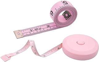 WINTAPE Lot de 2rubans à mesurer pour le corps, la couture du tissu et l'artisanat, rétractable, double face, 1,5m, rose