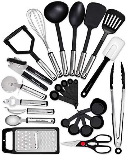 Home Hero Kitchen Utensil Set - 25 Nylon Cooking Utensils - Kitchen Utensils with Spatula - Kitchen Gadgets Cookware Set - Kitchen Tool Set